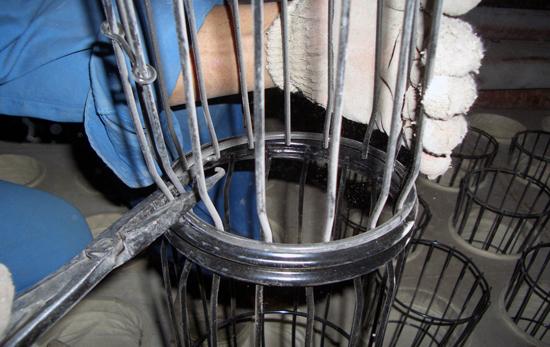 锥形口的双节袋笼
